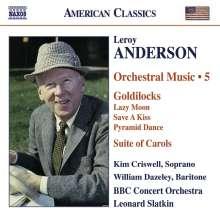 Leroy Anderson (1908-1975): Orchestermusik Vol.5, CD