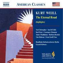 Kurt Weill (1900-1950): The Eternal Road (Musical), CD