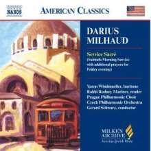 Darius Milhaud (1892-1974): Service Sacre (Gottesdienst für den Sabbath-Morgen), CD