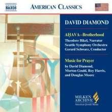 David Diamond (1915-2005): Ahava, CD