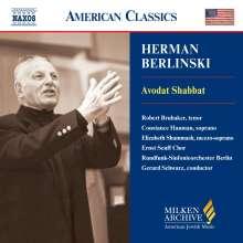 Herman Berlinski (1910-2001): Avodat Shabbat, CD