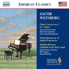 Jacob Weinberg (1879-1956): Klavierkonzert Nr.2, CD
