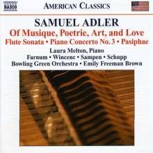 Samuel Adler (geb. 1928): Klavierkonzert Nr.3, CD