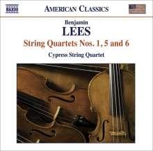 Benjamin Lees (1924-2010): Streichquartette Nr.1,5,6, CD