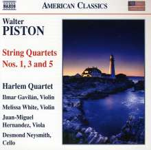 Walter Piston (1894-1976): Streichquartette Nr.1,3,5, CD