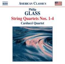 Philip Glass (geb. 1937): Streichquartette Nr.1-4, CD