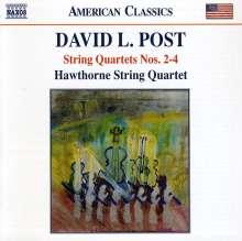 David L. Post (geb. 1949): Streichquartette Nr.2-4, CD