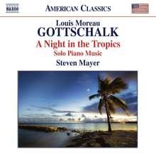 "Louis Moreau Gottschalk (1829-1869): Klavierwerke ""A Night in the Tropics"", CD"