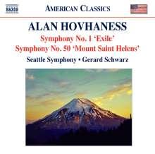 Alan Hovhaness (1911-2000): Symphonien Nr.1 & 50, CD