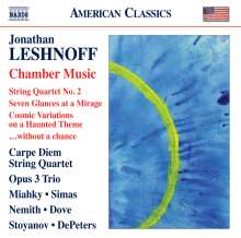 Jonathan Leshnoff (geb. 1973): Violinkonzert, CD
