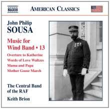 John Philip Sousa (1854-1932): Music for Wind Band Vol.13, CD