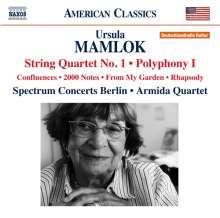 Ursula Mamlok (1923-2016): Streichquartett Nr.1, CD