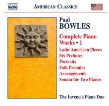 Paul Bowles (1910-1999): Sämtliche Klavierwerke Vol.1, CD