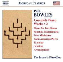Paul Bowles (1910-1999): Sämtliche Klavierwerke Vol.2, CD