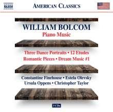 William Bolcom (geb. 1938): Klavierwerke, 3 CDs