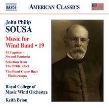 John Philip Sousa (1854-1932): Music for Wind Band Vol.19, CD