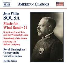 John Philip Sousa (1854-1932): Music for Wind Band Vol.21, CD