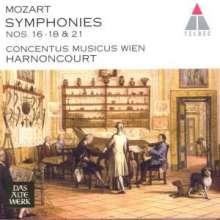 Wolfgang Amadeus Mozart (1756-1791): Symphonien Nr.16-18,21, CD