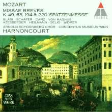 Wolfgang Amadeus Mozart (1756-1791): Messen KV 49,65,194,220, CD