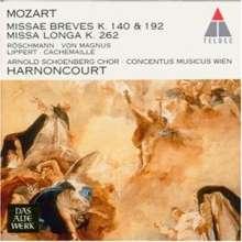 Wolfgang Amadeus Mozart (1756-1791): Messen KV 140,192,262, CD