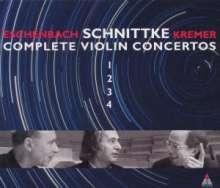 Alfred Schnittke (1934-1998): Violinkonzerte Nr.1-4, 2 CDs