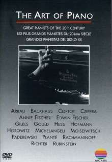 The Art of Piano - Great Pianists of the 20th Century, DVD