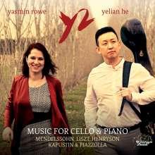 Yelian He & Yasmin Rowe - Music For Cello & Piano, CD
