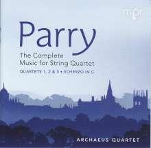Hubert Parry (1848-1918): Sämtliche Werke für Streichquartett, 2 CDs