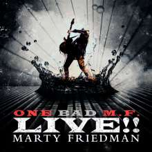 Marty Friedman: One Bad M.F. Live!! (Black Sparkle W/ Clear Splatter Vinyl), 2 LPs