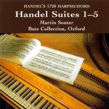 Georg Friedrich Händel (1685-1759): Cembalosuiten (1720) Nr.1-5, CD