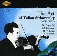 Yulian Sitkovetsky - The Art of Yulian Sitkovetsky Vol.4, CD
