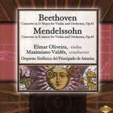 Beethoven / Mendelssohn: Concerto In D Major Op 61 / Co, CD