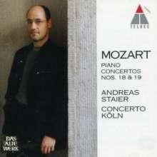 Wolfgang Amadeus Mozart (1756-1791): Klavierkonzerte Nr.18 & 19, CD