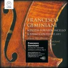 Francesco Geminiani (1687-1762): Sonaten für Cello & Bc op.5 Nr.1-6, CD