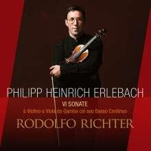 Philipp Heinrich Erlebach (1657-1714): Sonaten Nr.1-6 für Violine,Viola da gamba & Bc, CD