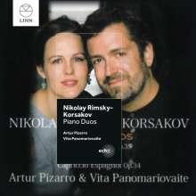 Nikolai Rimsky-Korssakoff (1844-1908): Werke für 2 Klaviere, CD