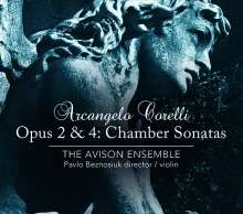 Arcangelo Corelli (1653-1713): Sonate da Camera op.2 & 4, 2 CDs