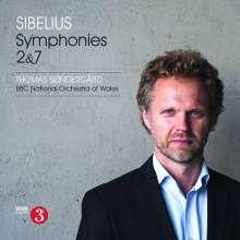 Jean Sibelius (1865-1957): Symphonien Nr.2 & 7, CD