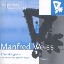 """Manfred Weiss (geb. 1935): Kammermusik """"Erkundungen"""", CD"""