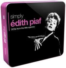 Edith Piaf (1915-1963): Simply Edith Piaf (Metallbox), 3 CDs