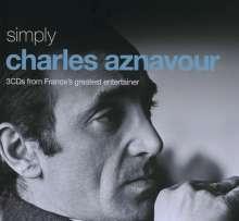 Charles Aznavour (1924-2018): Simply Charles Aznavour (Metallbox), 3 CDs