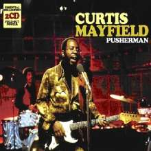 Curtis Mayfield: Pusherman: Essential Collection, 2 CDs