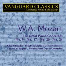 Wolfgang Amadeus Mozart (1756-1791): Klavierkonzerte Nr.9,17,20,24, 2 CDs