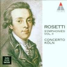 Antonio Rosetti (1750-1792): Symphonien Vol.2 (Kaul I Nr.18,21,22,30), CD