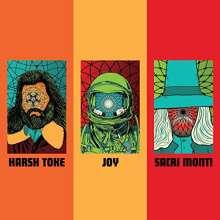 """Harsh Toke / Joy / Sacri Monti: Burnout (Colored Vinyl), 3 Single 7""""s"""