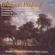 Johannes Brahms (1833-1897): Symphonie Nr.3 für 2 Klaviere, 2 CDs