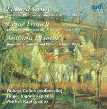 Edvard Grieg (1843-1907): Sonate für Cello & Klavier op. 36, CD