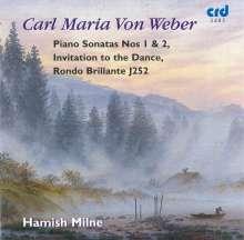 Carl Maria von Weber (1786-1826): Klaviersonaten Nr.1 & 2, CD