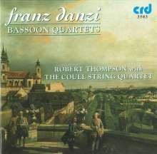 Franz Danzi (1763-1826): Quartette für Fagott & Streichtrio op.40 Nr.1-3, CD