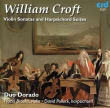 William Croft (1678-1727): Sonaten für Violine & Cembalo A-Dur,G-Dur,h-moll, CD